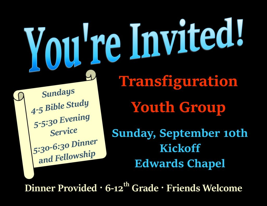 Youth Group invitation